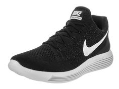 56d6ce80c4c2 NIKE Mens LunarEpic Low Flyknit 2 Running Shoes 10 DM US  Black Anthracite White