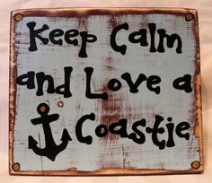 I love this Coast Guard Sign!! Keep calm and love a Coastie quote wood sign by Coastie Girl Designs on Etsy / Facebook