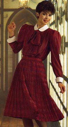 Everything Feminine: Photo High Street Fashion, Fashion In, Retro Fashion, Vintage Fashion, Vintage Vogue, Modest Fashion, Vintage Skirt, Vintage Dresses, Vintage Outfits