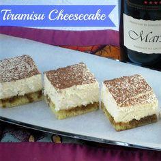 Tiramisu Cheesecake ~ excellent  and never fails recipe !  #cheesecake #tiramisu #sweettreats #desserts WithABlast.com