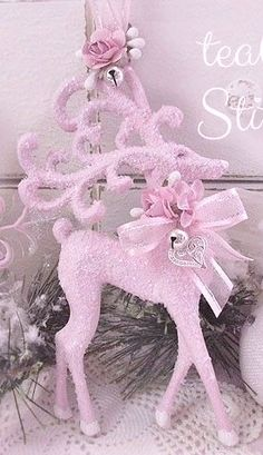 Glitter Reindeer Ornament