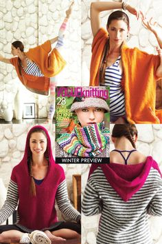 Cosy, yoga gear | Vogue Knitting Winter 2013/14 | wish I could get the poses right