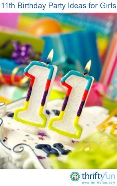 This is a guide about 11th birthday party ideas for girls. Tween birthday parties can be difficult to plan, they are getting too old for children's parties and are still not ready to move up to teen party activities.