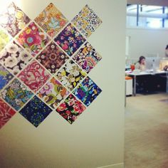We spotted some fresh Spring 2013 squares on our official color wall!