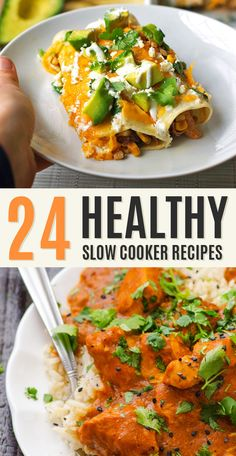 24 healthy slow cooker recipes!