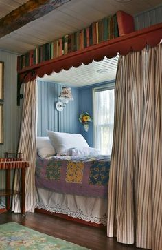 20 Smart Cabin Chic Room Design Ideas and Decorations Dream Rooms, Dream Bedroom, Home Decor Bedroom, Alcove Bed, Bed Nook, Sleeping Nook, Cabin Chic, Room Inspiration, Small Spaces