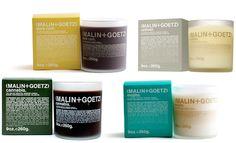 Malin Goetz Candles - dark rum, vetiver, cannabis, and mojito.