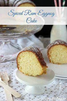 Spiced Rum Eggnog Bundt Cake