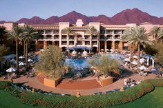 Fairmont Scottsdale Princess, AZ. Spa. Went here on my first girls vacation with Toni. Think 2002.