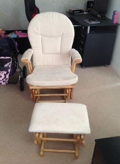 Kiddicare Nursing Rocking Gliding Chair With Footstool