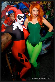 HARLEY QUINN & POSION IVY https://www.facebook.com/BirdsofPlay (Costumes by CASTLE CORSETRY )  #SDCC2013