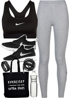 Activewear outfit for the gym with Nike items by ferned