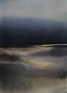 "Saatchi Art Artist Sabrina Garrasi; Painting, """"The sky flooded by night""  /  Abstract Landscape"" #art"