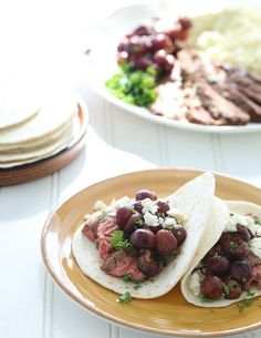 Roasted Grapes Tacos