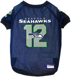 Pets First NFL Seattle Seahawks Jersey, Large, Pink