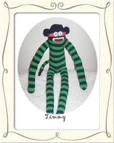 Timmy was my or sock monkey. Sock, Monkey, Christmas Ornaments, Holiday Decor, Home Decor, Jumpsuit, Decoration Home, Room Decor, Monkeys