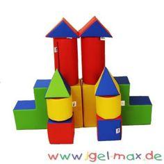 xxl gro bausteine 14 teile softbausteine kindergartenm bel krippenm bel pinterest. Black Bedroom Furniture Sets. Home Design Ideas