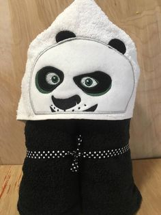 Panda Fighter Hooded Towel | Bows and Clothes