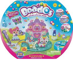 Activity Pack Princess Castle Another great activity pack, create characters and items and bring your Beados world to life! Comes with design templates and many special accessories for your Beados collection. •Comes with over 500 Beados •Also includes scene cards, spray bottle, and design templates •Recommended for ages 4 and up