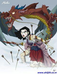 """Princesas """"demoníacas"""" Disney - Mulan"""