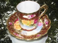 Nippon Porcelain Roses and Gold  c.1890's