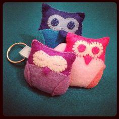 Cutesy owl key rings :)