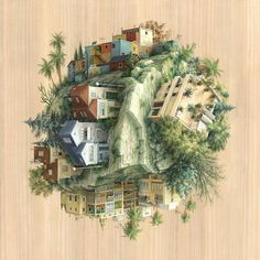 by Ariadna Zierold Barcelona-based artist and illustrator Cinta Vidal Agulló defies gravity and architectural conventions to create encapsulated scenes of intersecting perspectives. Painted with ac...