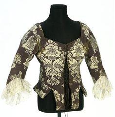 Caraco jacket, mid-18th century, Spain.