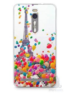 Capa Zenfone 2 Torre Eiffel e Balões - SmartCases - Acessórios para celulares e tablets :)