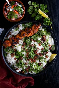 A feast for your senses, this chicken tikka biryani combines two Indian classics Indian Food Recipes, Asian Recipes, Indian Foods, Indian Snacks, Biryani Recipe Video, Kitchen Recipes, Cooking Recipes, Veg Recipes, Cooking Tips