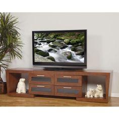 "PLATEAU VALENCIA 5187 W Wood Expandable 51"" - 87"" TV Stand, Walnut finish"