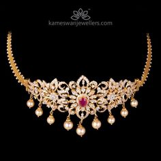 Mesmerizing collection of gold earrings from Kameswari Jewellers. Shop for designer gold earrings, traditional diamond earrings and bridal earrings collections online. Gold Earrings Designs, Gold Jewellery Design, Necklace Designs, Gold Jewelry, Jewelry Sets, Gold Designs, Bridal Jewellery, Jewelry Making, Quartz Jewelry