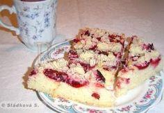 Jogurtový koláč s ovocem (těsto bez cukru) Czech Recipes, French Toast, Food And Drink, Tasty, Sweets, Baking, Vegetables, Breakfast, Czech Food