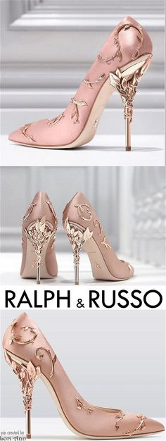 Wedding Heels // Ralph & Russo Eden Pump in Pink & Rose Gold Hochzeitsschuhe / / Ralph & Russo Eden Pump in Pink & Rose Gold Fancy Shoes, Pretty Shoes, Beautiful Shoes, Cute Shoes, Me Too Shoes, Beautiful Outfits, Prom Heels, Wedding Heels, Women's Heels