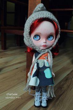 OOAK benutzerdefinierte Blythe Puppe. Roten Haaren von AdorablyMini