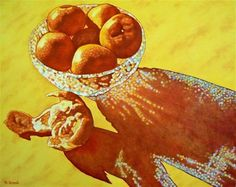 "Daily Paintworks - ""Clementine Sparkle"" - Original Fine Art for Sale - © Margaret Horvat"