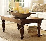 Could we make a distressed table like this one? (Rustic, country, vintage, weathered)    Hyde Coffee Table - Pottery Barn