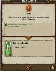 Green knight? You mean green thumbs
