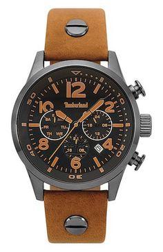 7a0d22f2f59 Timberland horloge Jenness Light Brown-Gunmetal 44 mm TBL.15376JSU 02. Fraai