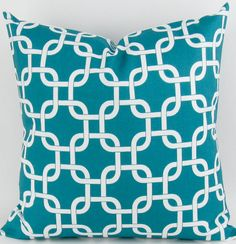 TURQUOISE Chain Pillow Cover 20x20 inch gotcha by DeliciousPillows, $22.00