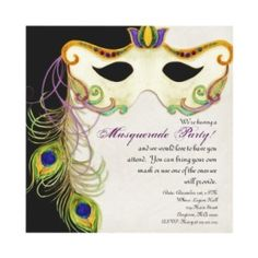 Masquerade Ball Theme | Party Themes / peacock invitation Masquerade party Masked ball ...