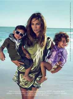 Jennifer Lopez and twins pose for Gucci