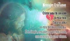 Cristo sana tu corazón si está roto, cura tu alma si está herida o enferma. Él te limpia, restablece y perdona todo, con su magia de amor eterno