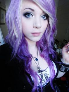 lavender hair | amber mccrakin, curly hair, cute, gorgeous, purple hair - inspiring ...