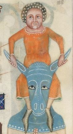 Detail from The Luttrell Psalter, British Library Add MS 42130 (medieval manuscript,1325-1340), f188r