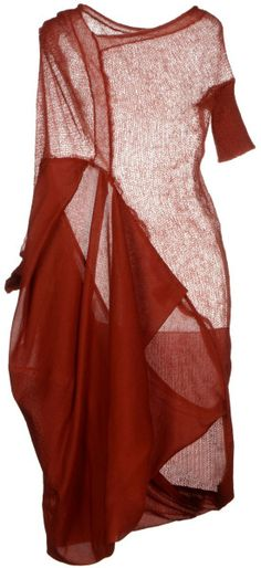 Alessandra Marchi Kneelength Dress in Red (Brick red) | Lyst