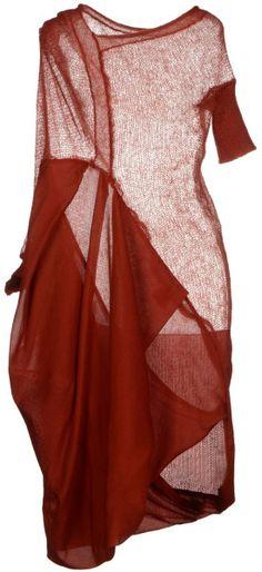 #Farbbberatung #Stilberatung #Farbenreich mit www.farben-reich.com Alessandra Marchi Kneelength Dress in Red (Brick red) | Lyst