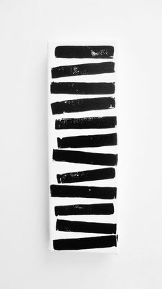 Small Acrylic Painting on Canvas Black and White Stripes Original Abstract Painting Modern Art by Lynda Black / polkadottydolls on Etsy