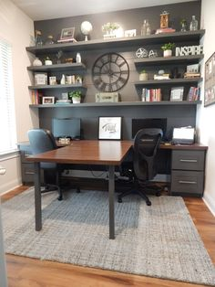 Experts reveal home office decor ideas that help you maximize space and creativity. Looking some home office remodel ideas? Creating a comfy home office is a must. We can help you. Check out our home office ideas here and get inspired Decor, Furniture, Home Office Desks, Interior, Home Decor, House Interior, Home Office Design, Office Furniture, Office Design