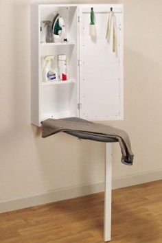 A space saving idea for small laundry rooms. A space saving idea for small laundry rooms. Wall Storage, Bathroom Storage, Diy Storage, Laundry Storage, Bathroom Laundry, Laundry Closet, Storage Ideas, Ikea Laundry, Tiny Closet